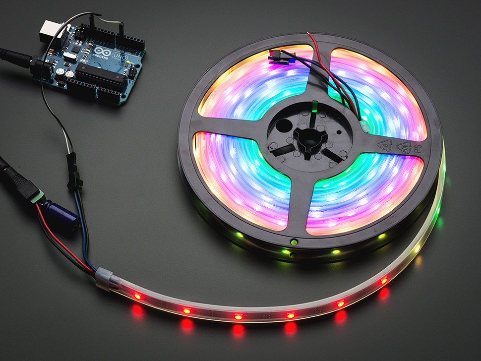 Adafruit NeoPixel Digital RGB LED Strip - Black 30 LED - 1m [BLACK]
